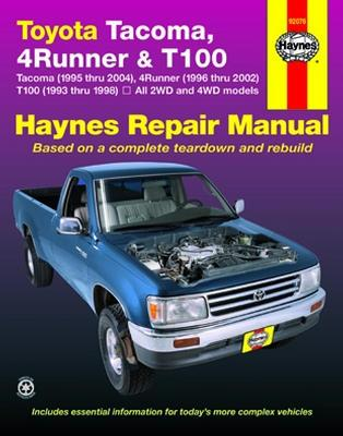 1998 toyota t100 engine diagram toyota tacoma  4runner   t100 93 04 haynes repair manual locking  toyota tacoma  4runner   t100 93 04