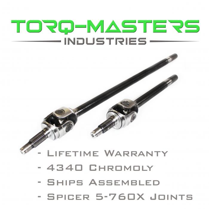 Torq-Masters Chromoly Front Axle Shaft Assembled Pair Jeep